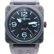 Bell & Ross BR 03 pre-owned 42mm Blue Date Rubber