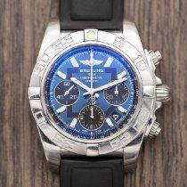 Breitling Chronomat 41 Staal 41mm Blauw Geen cijfers