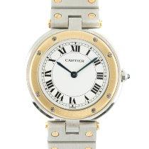 Cartier Santos (submodel) Золото/Cталь 32.5mm Белый