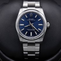 Rolex Oyster Perpetual 34 Steel 34mm Blue No numerals United States of America, California, Huntington Beach
