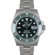 Rolex ny Automatisk Centrumsekundvisare Fluoriserande visare Kronometer Vridbar dykarring Skruvad krona Självlysande visare och markörer 40mm Stål Safirglas