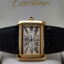 Cartier 2603 Yellow gold Tank Divan 38mm pre-owned
