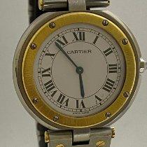 Cartier Złoto/Stal 27mm Kwarcowy 8191 używany