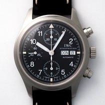 IWC Pilot Chronograph Aço 39mm Preto Árabes