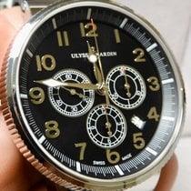 Ulysse Nardin Steel Automatic Black 43mm pre-owned Marine Chronograph
