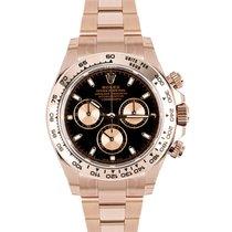 Rolex Daytona Złoto różowe 40mm Czarny