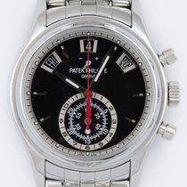 Patek Philippe Annual Calendar Chronograph Acier 40.5mm Noir Sans chiffres