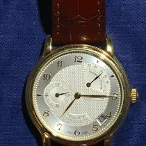 Zenith Yellow gold Manual winding Silver Arabic numerals 36mm pre-owned Elite Power Reserve