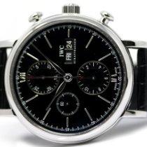 IWC Portofino Chronograph Сталь 42mm Черный Без цифр