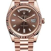 Rolex Day-Date 40 Rose gold 40mm Brown United States of America, Illinois, Chicago