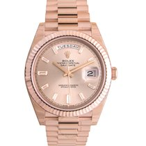 Rolex Day-Date 40 Rose gold 40mm Pink Roman numerals United States of America, Illinois, Chicago