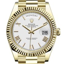 Rolex Day-Date 40 Yellow gold 40mm White United States of America, Illinois, Chicago