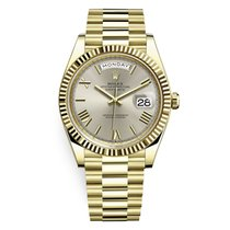Rolex Day-Date 40 Yellow gold 40mm Silver United States of America, Illinois, Chicago