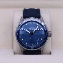 Blancpain pre-owned Automatic 43.6mm Blue Sapphire crystal 30 ATM