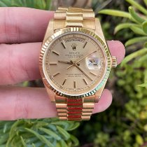 Rolex 18038 Yellow gold 1985 Day-Date 36 36mm pre-owned United States of America, California, Los Angeles