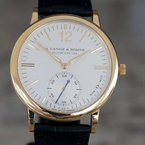 A. Lange & Söhne Yellow gold Automatic Silver pre-owned Langematik