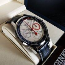 Longines Column-Wheel Chronograph Stahl 41mm Champagnerfarben Keine Ziffern