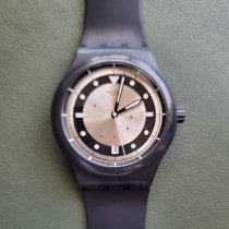 Swatch pre-owned Automatic 42mm Champagne Plastic