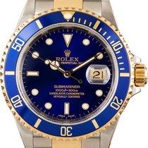 Rolex Submariner Date Gold/Steel 40mm Blue No numerals Singapore