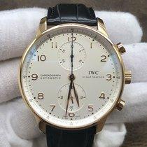IWC Желтое золото Автоподзавод Cеребро Aрабские 41mm подержанные Portuguese Chronograph
