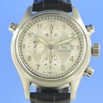 IWC Fliegeruhr Doppelchronograph Stahl 42mm Silber