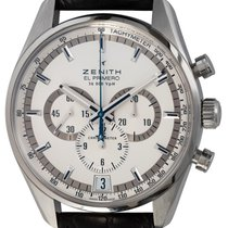 Zenith El Primero 36'000 VpH pre-owned 42mm Silver Chronograph Date Buckle