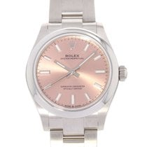 Rolex Oyster Perpetual 31 Steel 31mm Pink No numerals