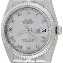 Rolex Datejust Steel 36mm Silver Roman numerals