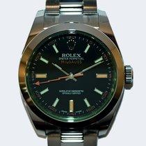 Rolex Milgauss Stål 40mm Svart Inga siffror