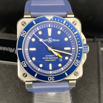 Bell & Ross BR 03-92 Steel Steel 42mm Blue No numerals