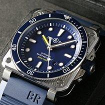 Bell & Ross BR 03-92 Steel Сталь 42mm Синий Без цифр