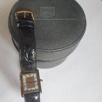 Cartier Silver Quartz Gold Roman numerals 23mm pre-owned Tank Vermeil