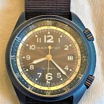Hamilton Khaki Pilot Pioneer pre-owned 41mm Blue Date