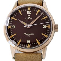 Omega Seamaster pre-owned 35mm Brown Leather