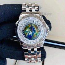 Patek Philippe World Time Платина 39.5mm Белый Aрабские