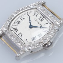 Cartier Tortue Platinum 20mm White United States of America, California, Pacifica