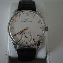 IWC Portuguese Hand-Wound IW545408 Très bon Acier 44mm Remontage manuel