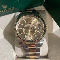 Rolex Sky-Dweller Gold/Steel 42mm Black No numerals UAE, dubai