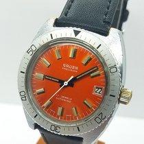 Gruen Precision Steel 37,5mm Orange No numerals