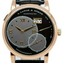 A. Lange & Söhne Rose gold Manual winding Black 41.9mm pre-owned Grand Lange 1
