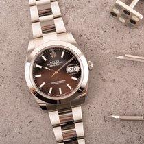 Rolex Datejust Steel 41mm Black No numerals Australia