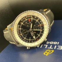 Breitling Navitimer GMT Staal 46mm Zwart Geen cijfers