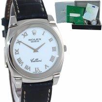 Rolex Cellini Danaos Λευκόχρυσος 35mm Άσπρο Ρωμαϊκοί