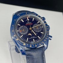 Omega Cerámica Automático Azul Sin cifras 44.25mm nuevo Speedmaster Professional Moonwatch Moonphase