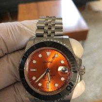 Seiko Marinemaster Steel 40mm Orange No numerals