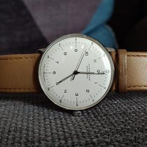 Junghans max bill Automatic pre-owned 38mm White Leather