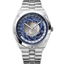 Vacheron Constantin Overseas World Time Steel 43.5mm Blue