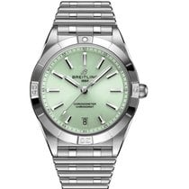 Breitling Chronomat Steel 36mm Green No numerals United States of America, Iowa, Des Moines