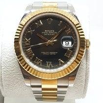Rolex Datejust II Gold/Steel 41mm Black Roman numerals UAE, Sharjah