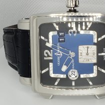 Ulysse Nardin Quadrato Dual Time pre-owned Leather